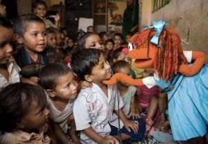 Sesame Street's characters meet children